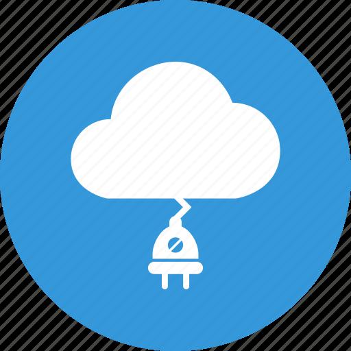 cloud, cloud computing, computing, download, plug, upload icon