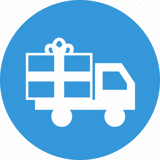 delivery, gift, logistics, shipping, transport, truck icon