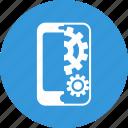 mobile, seo, mobile seo, cogwheel, smartphone, settings