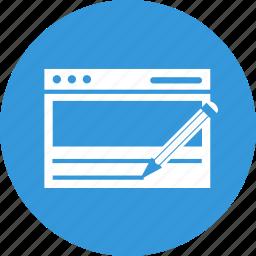 copywriting, improvement, pen, text, write icon