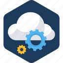 cloud, computing, network, server, settings, storage, upload icon