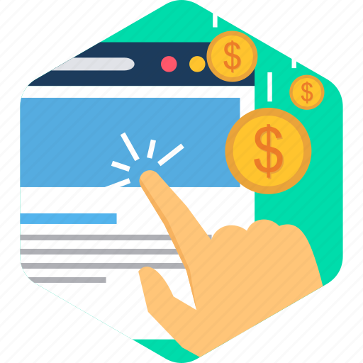click, online, pay, payment, per, ppc, ppu icon