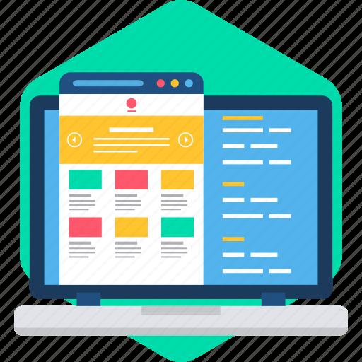 app, design, html, language, page, web, website icon