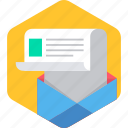 inbox, letter, letterbox, post, postbox, message icon