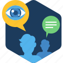 overview, people, user, view, search, social icon