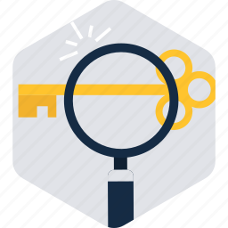 command, find, glass, key, magnifying, search, zoom icon