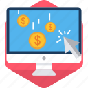 click, finance, pay, payment, per, ppc, ppu icon