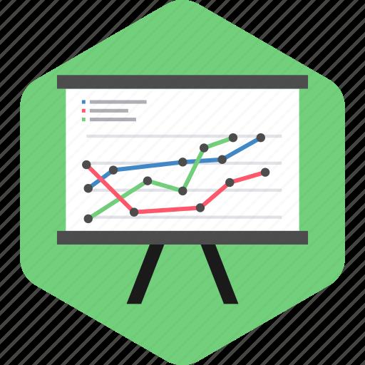 analytics, board, business, finance, office, presentation icon