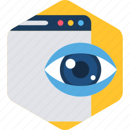 eye, find, page, search, seo, web, website icon