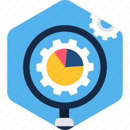 gear, magnifier, options, preferences, search, setting, settings icon