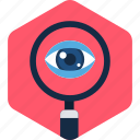 eye, search, find, magnifier, view, zoom