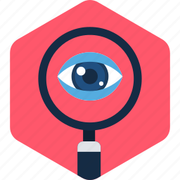 eye, find, magnifier, search, view, zoom icon