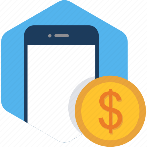 currency, dollar, finance, mobile, money, payment icon