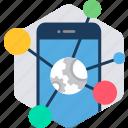 links, mobile, linking, phone, smartphone, social