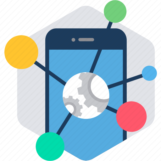 linking, links, mobile, phone, smartphone, social icon