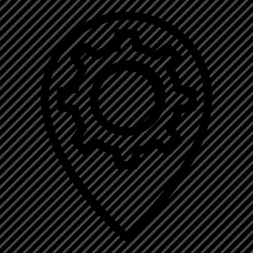 development, internet, marketing, pin, place, seo, web icon