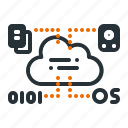 cloud, computing, connection, data, network, server, technology icon