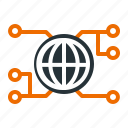 communication, connection, data, global, internet, network, technology icon
