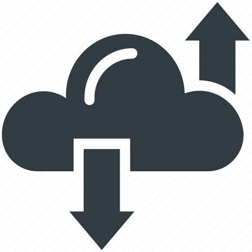 cloud computing, cloud hosting, cloud network, download, upload icon