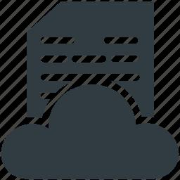 cloud computing, cloud document, cloud hosting, cloud network, cloud storage icon