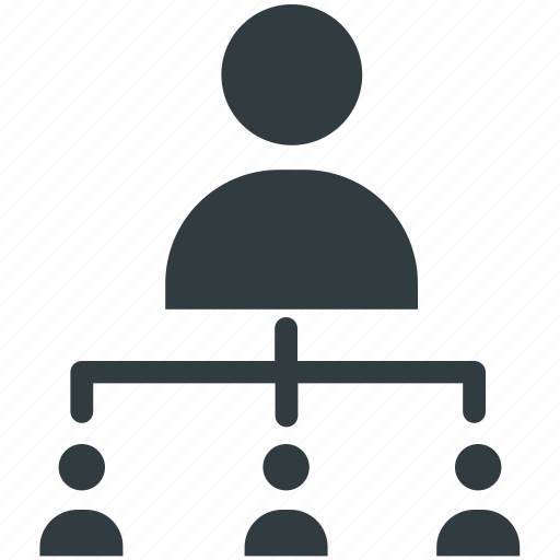 business people, online community, organization, people hierarchy, pyramidal structure icon