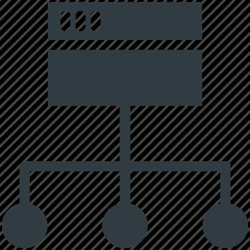 network, sitemap, web development, website project, website structure icon