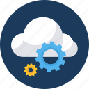 cloud, database, forecast, server, setting, settings, storage icon