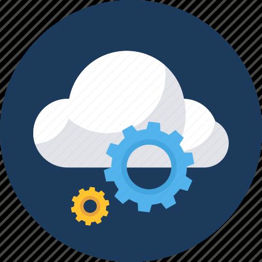 cloud, database, forecast, server, setting, settings, storage icon