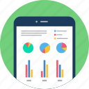 analytics, chart, diagram, graph, mobile, report, smartphone icon