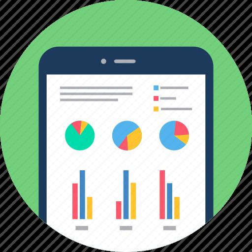 Analytics Chart Diagram Graph Mobile Report Smartphone Icon