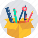 box, delivery, package, parcel, shipping, stationary, stationery icon
