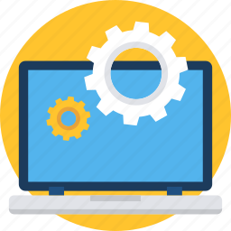 computer, configuration, laptop, preferences, screen, setting, settings icon