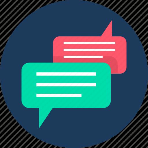 bubble, chat, communication, conversation, feedback, gossip, message icon