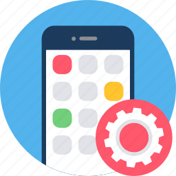 app, mobile, options, page, phone, setting, settings icon