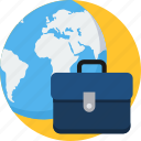 abroad, business, global, internet, office, portfolio, web icon