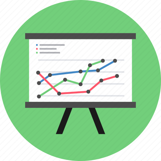 analysis, analytics, chart, graph, line, pie, presentation icon
