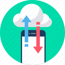 cloud, computing, database, download, server, storage, upload icon