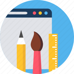 design, graphic, page, stationery, tool, web, website icon