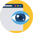 eye, load, loading, page, review, search, view icon