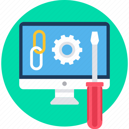 configuration, link, linking, setting, settings, web icon