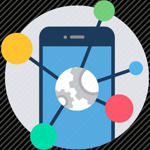 app, communication, link, links, media, mobile, social icon