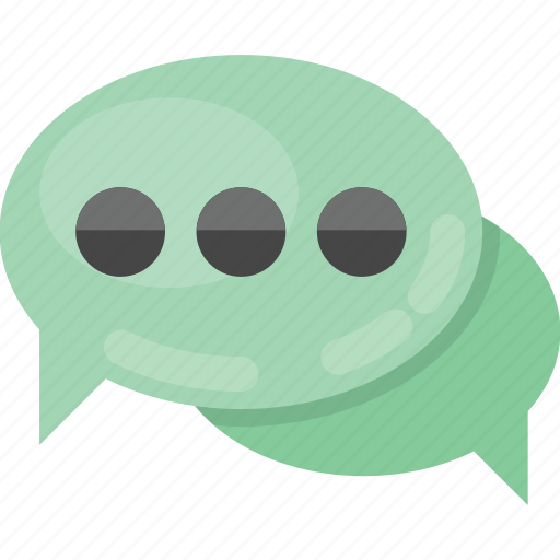babbling, chat symbol, conversation, speech bubbles, talk icon