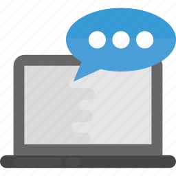 internet chat, live chat, online communication, online marketing, voice chat icon