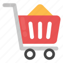 e-commerce, shop, shopping basket, shopping cart, trolley icon