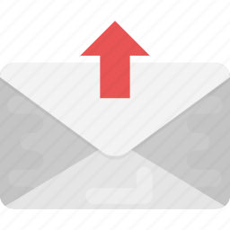 email, email marketing, emailing, envelope with arrow, sent mail icon
