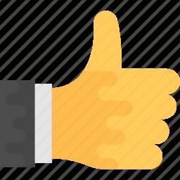 feedback, happy, like, rank, thumbs up icon