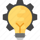 idea generation, innovation, strategy, technology, technology process icon
