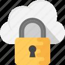 cloud padlock connect, cloud padlock security, cloud security services, cloud with padlock, secure cloud technology icon