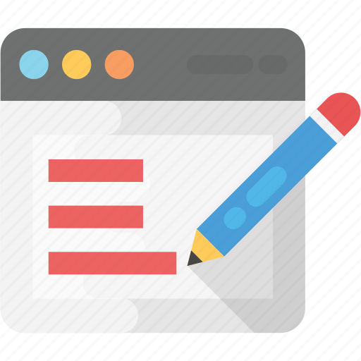 article writing, blogging, content writing, copywriting, website content icon