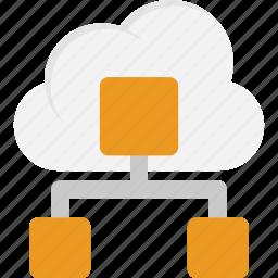 cloud computing network, cloud connection, cloud network diagram, cloud service, distributed cloud database icon